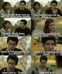 <<< i think it's just meme going around <<< it's originally from Parks & Recreation just adapted 4 teen wolf>> XD Teen Wolf Ships, Teen Wolf Mtv, Teen Wolf Funny, Teen Wolf Boys, Teen Wolf Dylan, Teen Wolf Cast, Dylan O'brien, Teen Wolf Quotes, Teen Wolf Memes