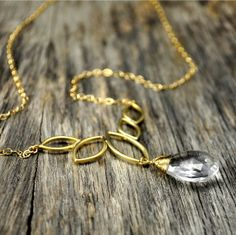 Gold Wire Wrap Necklace