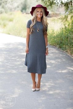 Comfort + style, this tee dress was made for those long, hot summer days!