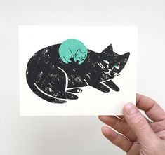 New Baby  Screen Printed Card by Gillian Wilson