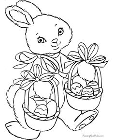 Easter bunny coloring sheet
