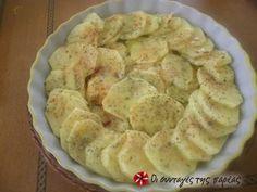 Πατάτες φούρνου με μουστάρδα Snack Recipes, Snacks, Apple Pie, Chips, Traditional, Cooking, Desserts, Foods, Snack Mix Recipes