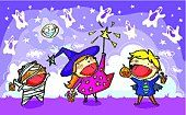 seven fun Halloween songs set to the tunes of nursery-rhymes and Christmas songs.