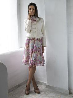"""""""Peggy"""" #Seiden #Rock by Brigitte von Boch #silk #skirt #bevonboch #flowers"""
