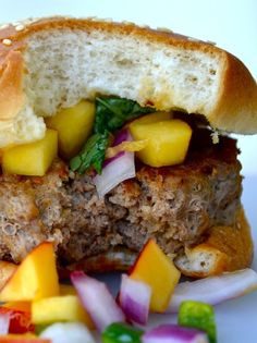 Turkey Chipotle Burger with Nectarine Basil Salsa and more of the best ground turkey burger recipes on MyNaturalFamily.com #turkey #recipe I love this site http://porkrecipe.org/posts/Turkey-Chipotle-Burger-with-Nectarine-Basil-Salsa-and-36834