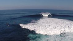 Aerial video of Jaws shot with a drone  the day before the epic swell..sniffed by UZIWA