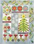 Sue Spargo Crimson Tweed Wool Quilt Block of the Month at Quilters' Paradise