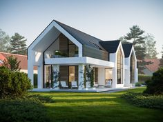 Modern House Plans, Modern House Design, Usa House, Country Style Homes, Country Farm, Exterior Design, Planer, Building A House, Architecture Design