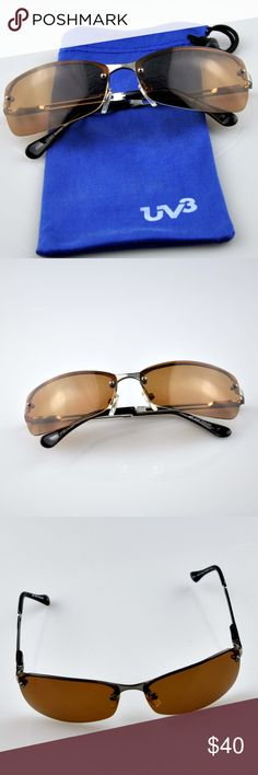 UV3+ Polarized Scratch Resitant Lens Sunglasses Sunglasses are in excellent condition. Comes with microfiber storage bag seen in photo.  Polarized UV400 Scratch Resistant lens 4433  Smoke free pet friendly home UV3+ Accessories Sunglasses