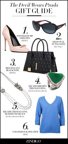 Our favorite gifts inspired by The Devil Wears Prada #giftguide #dwp