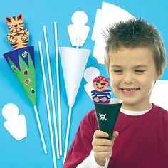 Easter Cone Puppet Kits for Kids to Design & Make for a Puppet Show (Pack of Summer Crafts, Crafts For Kids, Arts And Crafts, Victorian Crafts, Puppets For Kids, Puppet Crafts, Puppet Making, How To Make Toys, Shadow Puppets
