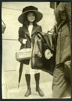 girl dressed for an outing  Close to Pollyanna's time!