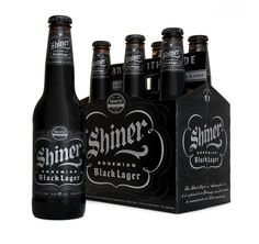 Shiner Black Lager packaging.