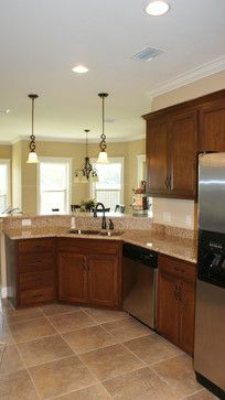 Dark Cabinets With Light Granite Design Ideas, Pictures, Remodel, and Decor - page 4