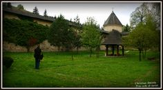 The fortified church of Sucevita in northern Moldova