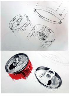#기초디자인 #캔 #개체표현 #예비반 #시범작 3d Art Drawing, Object Drawing, Pencil Art Drawings, Drawing Skills, Drawing Techniques, Art Sketches, Perspective Drawing Lessons, Composition Art, Art Basics