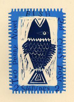 fish stamp . Jessica Rawlings Illustrator .