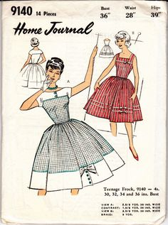1960s Vintage Sewing Pattern Dress with by allthepreciousthings, $24.00