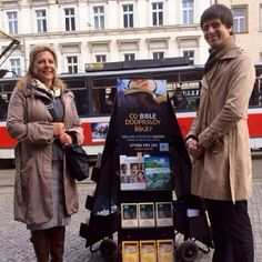 Public witnessing in the Czech Republic World Wide Public Witnessing - See More at http://www.jw.org  Photo Source Below Photo