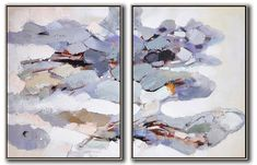 Set of 2 Abstract Painting #S121