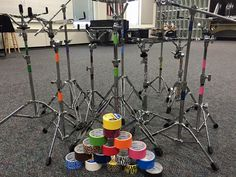 Color coded percussion stands