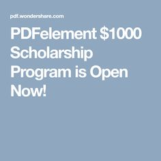 """PDFs and I"" story contest. The winning student will be awarded with $1,000, and the 10 runners-up will receive PDFelement 6 (Valued at $59.95) for free!"