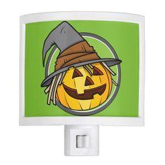 Happy Halloween Jack-O-Lantern Witch Nite Light