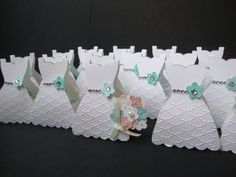 Bridal Shower party favor idea - use the Stampin' Up! Dress framelit (on a fold)…