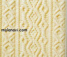 Рельефный узор спицами №59 http://mslanavi.com/2014/01/relefnyj-uzor-spicami-59/
