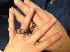 symbols as wedding band tattoos