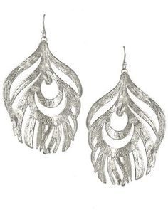 Karina Feather Earrings | Brooks Collection