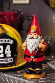 Amazon.com: Fireman Inspirational Garden Gnome: Patio, Lawn & Garden