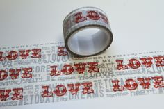 Masking Tape LOVE rot grau  von washitapes auf DaWanda.com