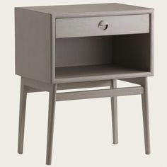 Bedside table with round pull handle