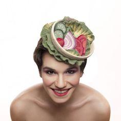 vegetables salad cocktail hat