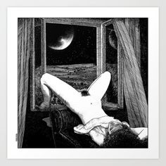 """Apollonia SaintClair """"Moonstruck"""" this and other prints available at society6.com/apolloniasaintclair/prints"""