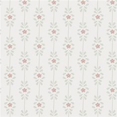 Wallpaper from the collection Borosan 14 in the colour Yellow, Red, Green, White and pattern Small scale patterns, Floral. Small Space Interior Design, Interior Design Living Room, Textured Wallpaper, Fabric Wallpaper, Textiles, Textile Prints, Doll House Wallpaper, Victorian Wallpaper, Wreath Drawing