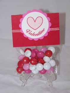 Valentine Goodie Bags with M&M's