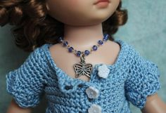 "**DoLLy BLiNG**...a sweet handcrafted butterfly necklace for Tonner Patsy, Ann Estelle, or Sophie 10"" DoLLs in BLuE. Every dolly needs her bling and if you need a necklace for your dolly here it is. Click on the picture to take you there."
