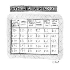 Insomnia Jeopardy - New Yorker Cartoon Premium Giclee Print