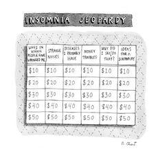 Insomnia Jeopardy - New Yorker Cartoon Premium Giclee Print
