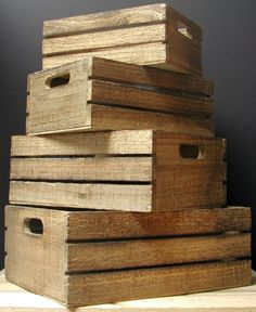 Wood Crates - Bucket Outlet.....Great prices on these solid wood crates