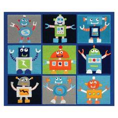 Robots Embellished Fabric