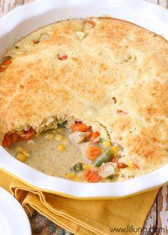 Quick and Delicious Chicken Pot Pie recipe { lilluna.com }