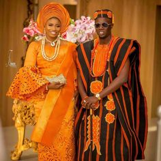 """Nigerian Wedding Pictures on Instagram: """"Couple Goal🖤🖤🖤🖤 . #nigeriaweddingpictures"""" African Inspired Clothing, African Print Fashion, Africa Fashion, African Prints, African Lace Dresses, African Fashion Dresses, African Clothes, African Wedding Attire, African Attire"""