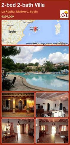 2-bed 2-bath Villa in La Rapita, Mallorca, Spain ►€250,000 #PropertyForSaleInSpain