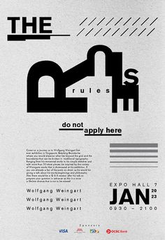 Typography poster - Wolfgang Weingart by Leong Jin Jie, via Behance