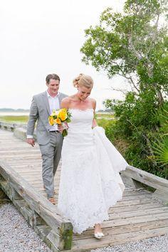 Yellow, Grey, Navy + White Nautical Fripp Island SC Wedding // Dana Cubbage Weddings // Charleston SC + Destination Wedding Photographer