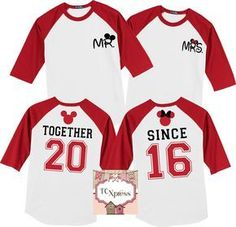Together Since Disney Honeymoon / Anniversary 3/4 Sleeve Raglan Shirts, Disney Honeymoon, Disney Anniversary, Disney Vacation, Honeymoon by TCXpress on Etsy