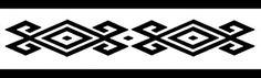Diseño mapuche. Pichikemenküe significa tinaja o jarrón de greda en esta cultura. Las tinajas están representadas por los diamantes más pequeños. Los diseños fuera de los diamantes son külpe ñimin, que representan garfios. Gentileza Fundación Chol Chol, Chile. - Guardas aborígenes Southwestern Art, Ethnic Patterns, Ancient Symbols, Pattern Library, American Indians, Pattern Design, Diy And Crafts, Stencils, Weaving
